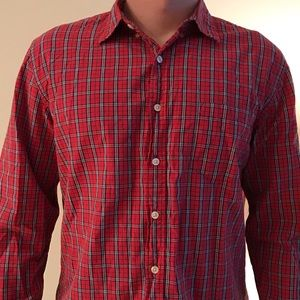 J Crew Red Flannel Button Down
